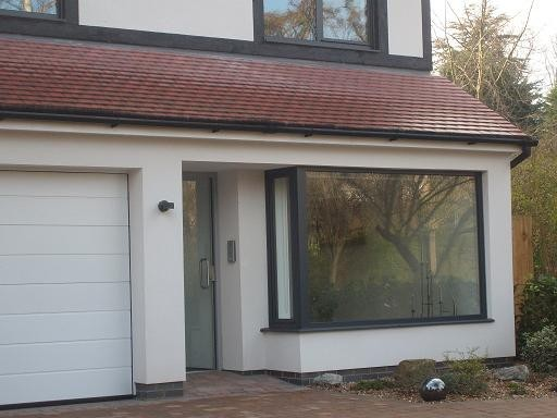 Purley – new build – glass feature window